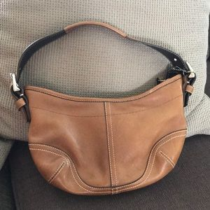 Coach brown leather over the shoulder bag
